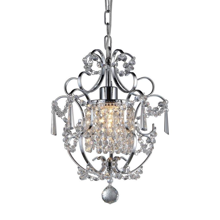 Warehouse of Tiffany Princess 12-in Chrome Crystal Single Crystal Pendant