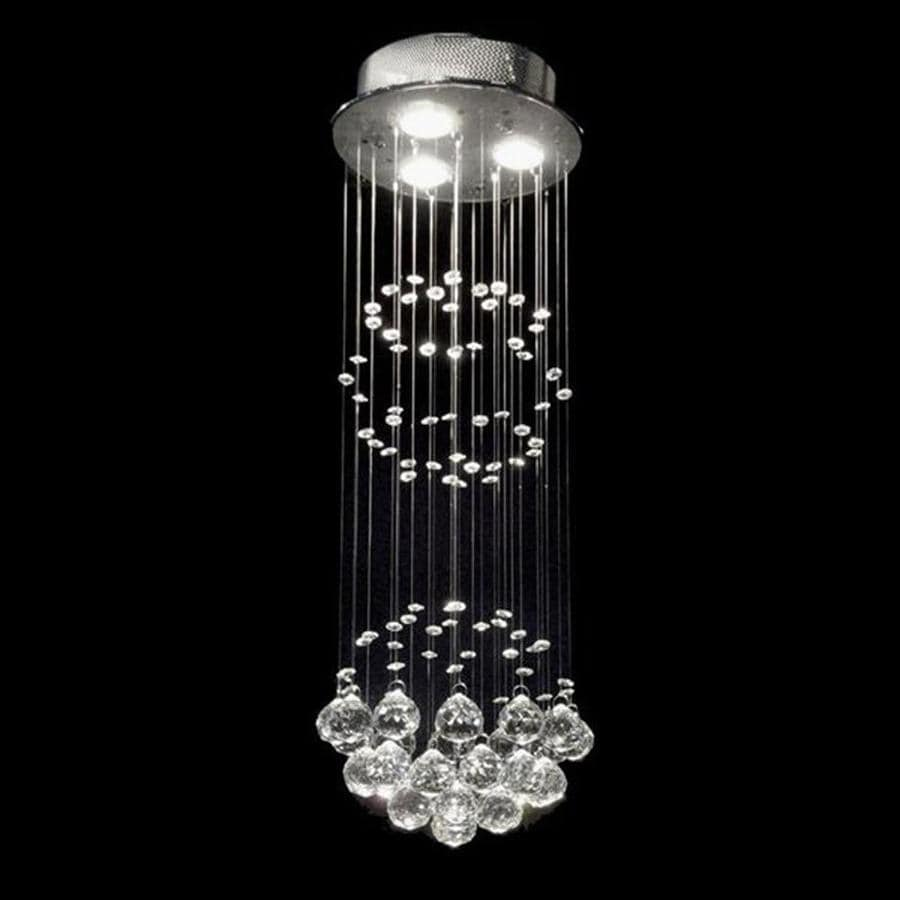 crystal 10 in w chrome crystal ceiling flush mount light at