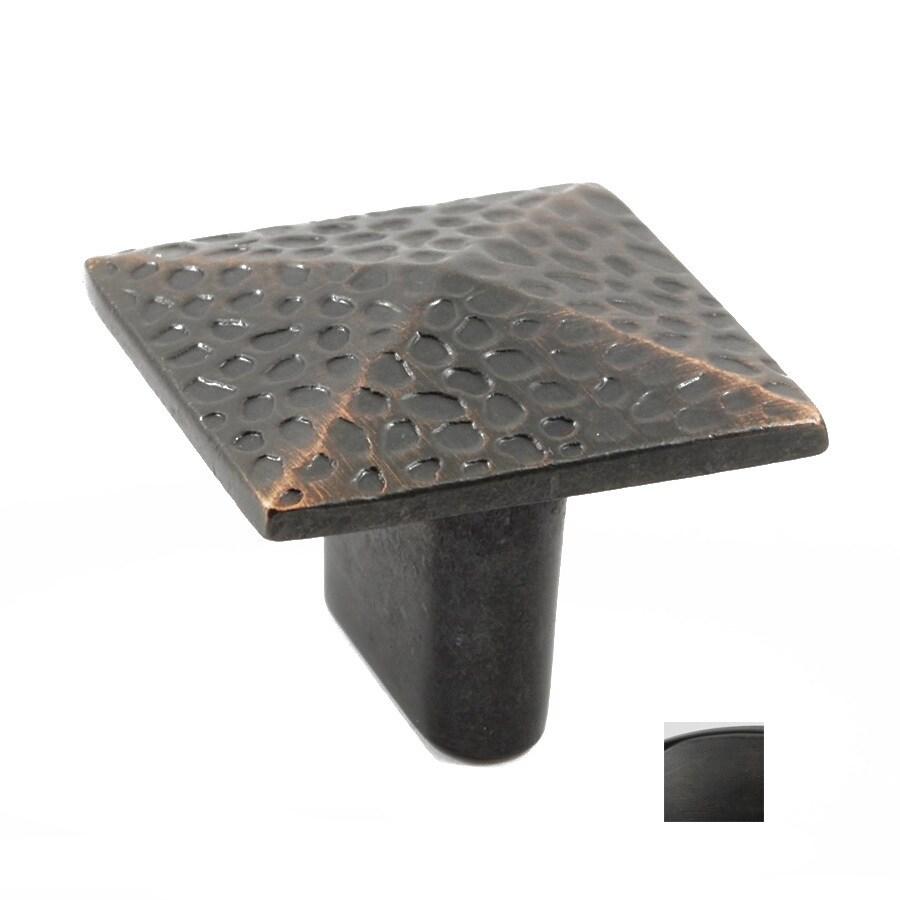 Residential Essentials Residential Essentials Venetian Bronze Square Cabinet Knob