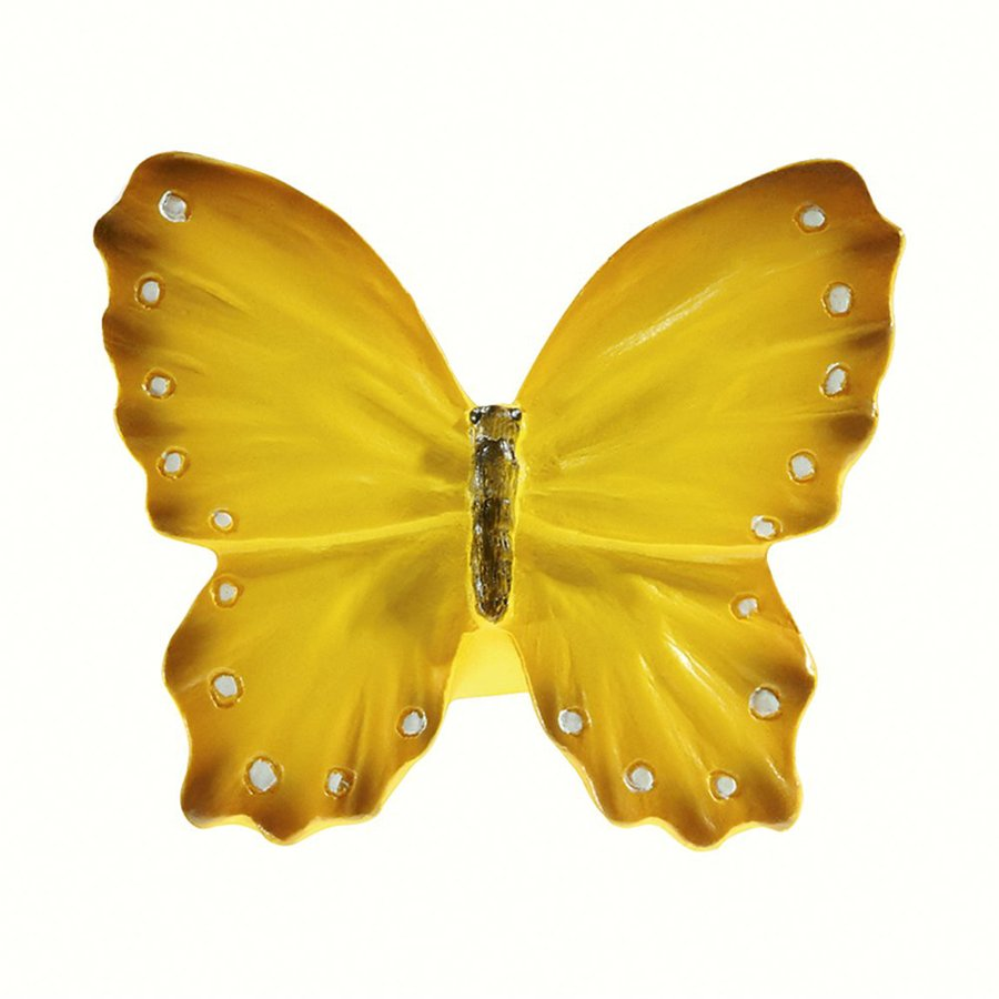 Siro Designs Butterflies Yellow with White Dots and Stripes Novelty Cabinet Knob