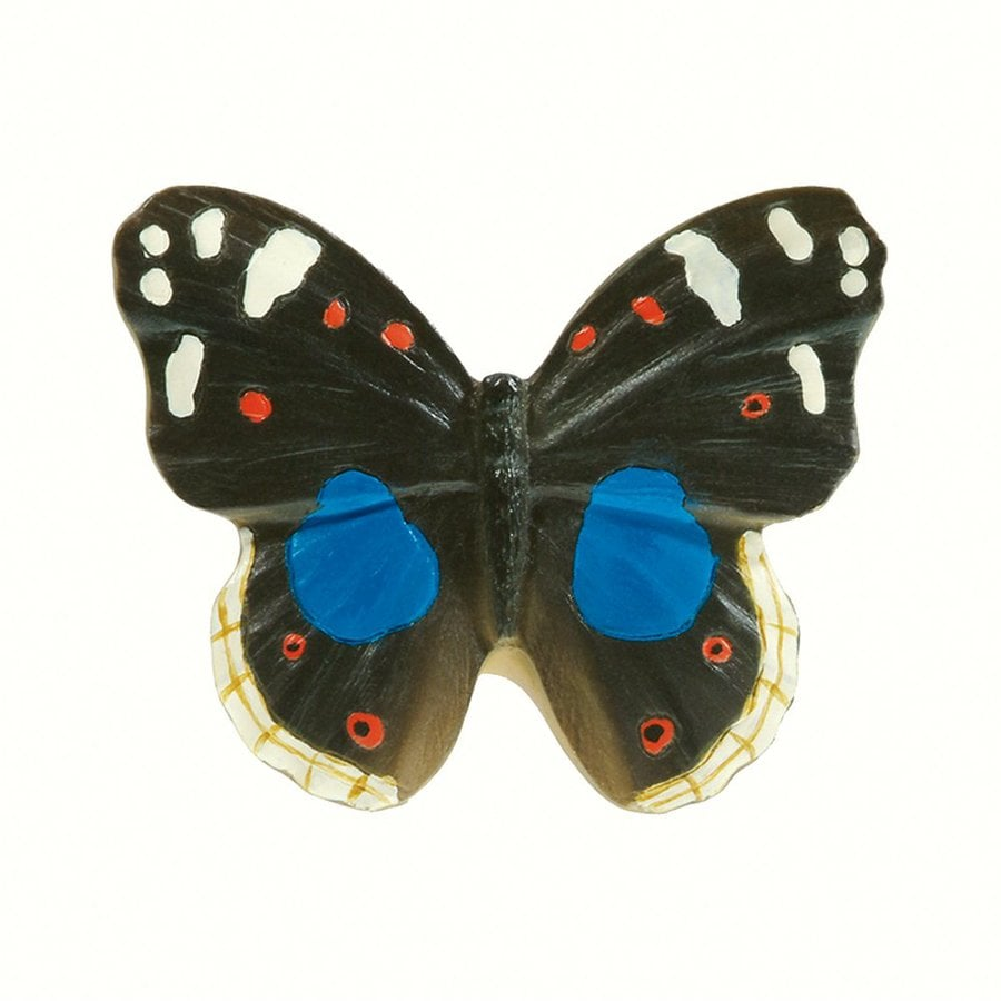 Siro Designs Butterflies Black/Blue/White/Red Novelty Cabinet Knob