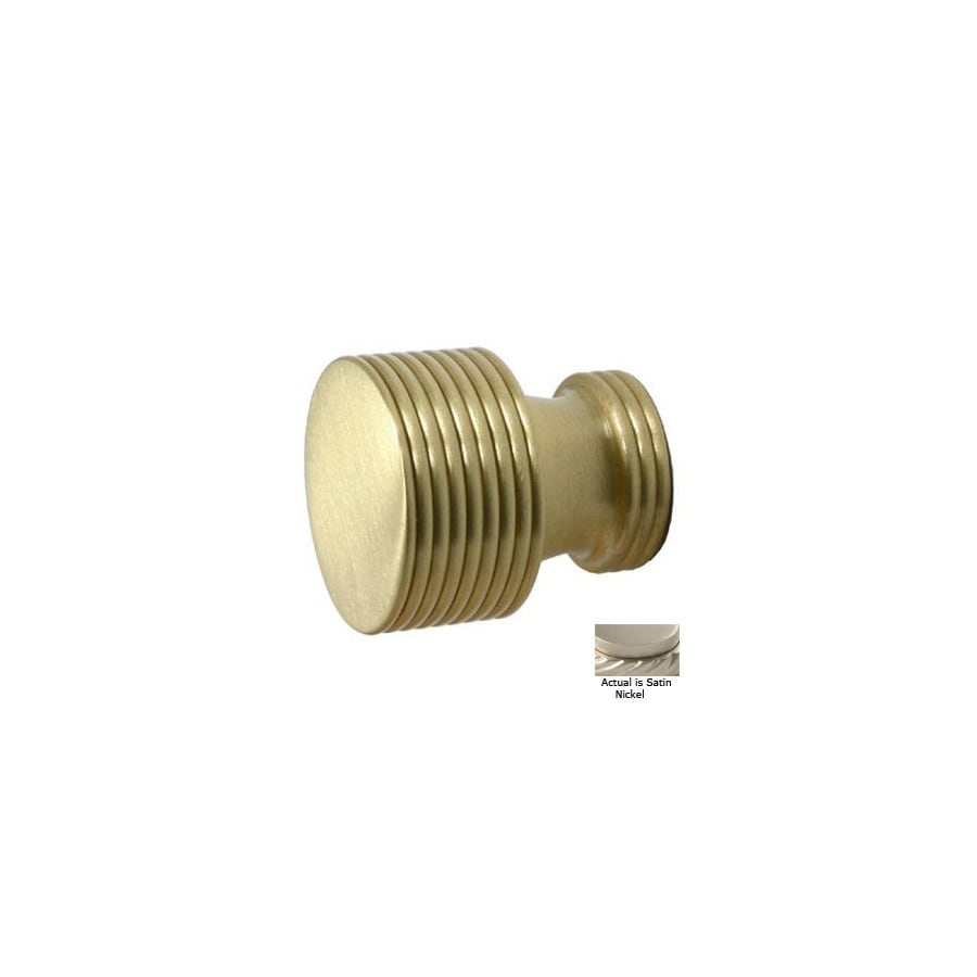 shop allied brass satin nickel cabinet knob at lowes