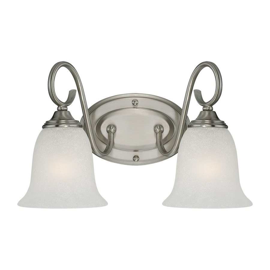 Vanity Lights Satin Nickel : Shop Millennium Lighting 2-Light Satin Nickel Standard Bathroom Vanity Light at Lowes.com