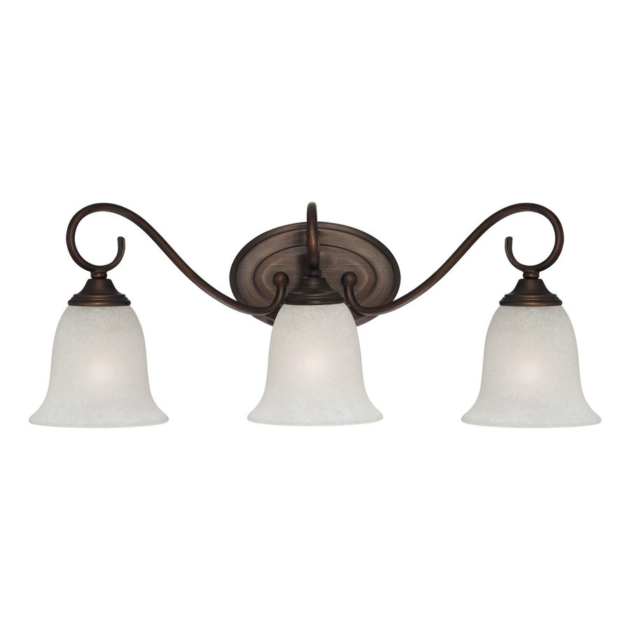 Vanity Lights In Lowes : Shop Millennium Lighting 3-Light Rubbed Bronze Standard Bathroom Vanity Light at Lowes.com