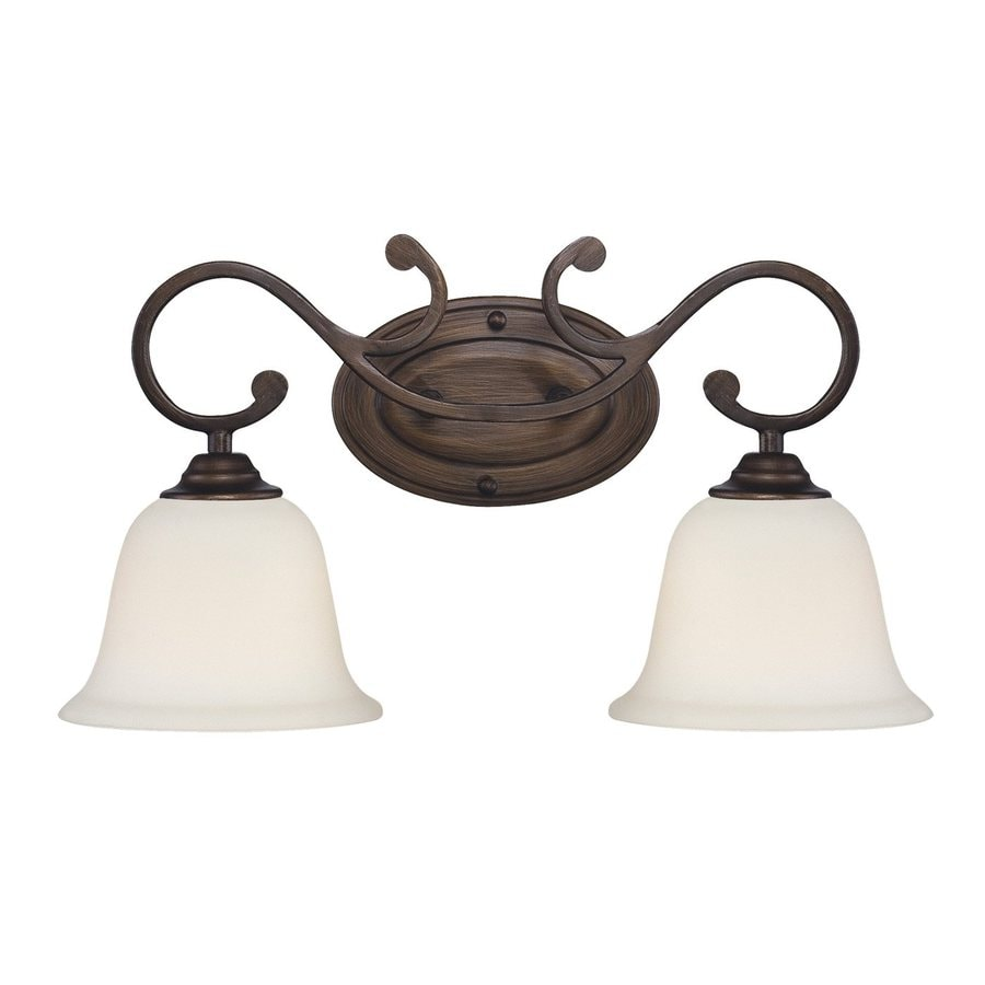 Vanity Lights Bronze : Shop Millennium Lighting 2-Light Rubbed Bronze Standard Bathroom Vanity Light at Lowes.com