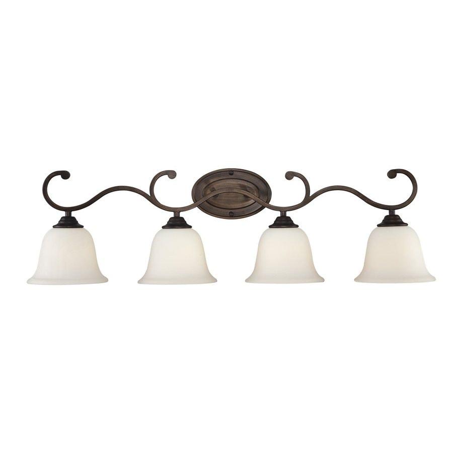 Millennium Lighting 4-Light Rubbed Bronze Standard Bathroom Vanity Light
