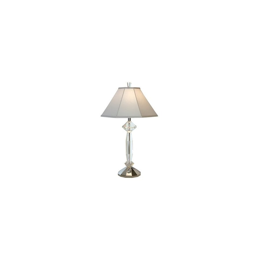 Trend Lighting 31-in Polished Chrome Crystal Table Lamp with Shade