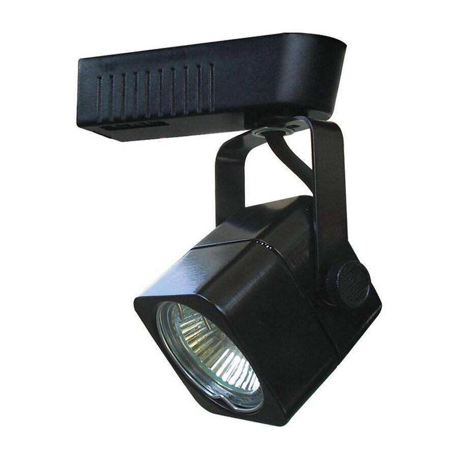 Cal Lighting 1-Light Black Flat Back Linear Track Lighting Head