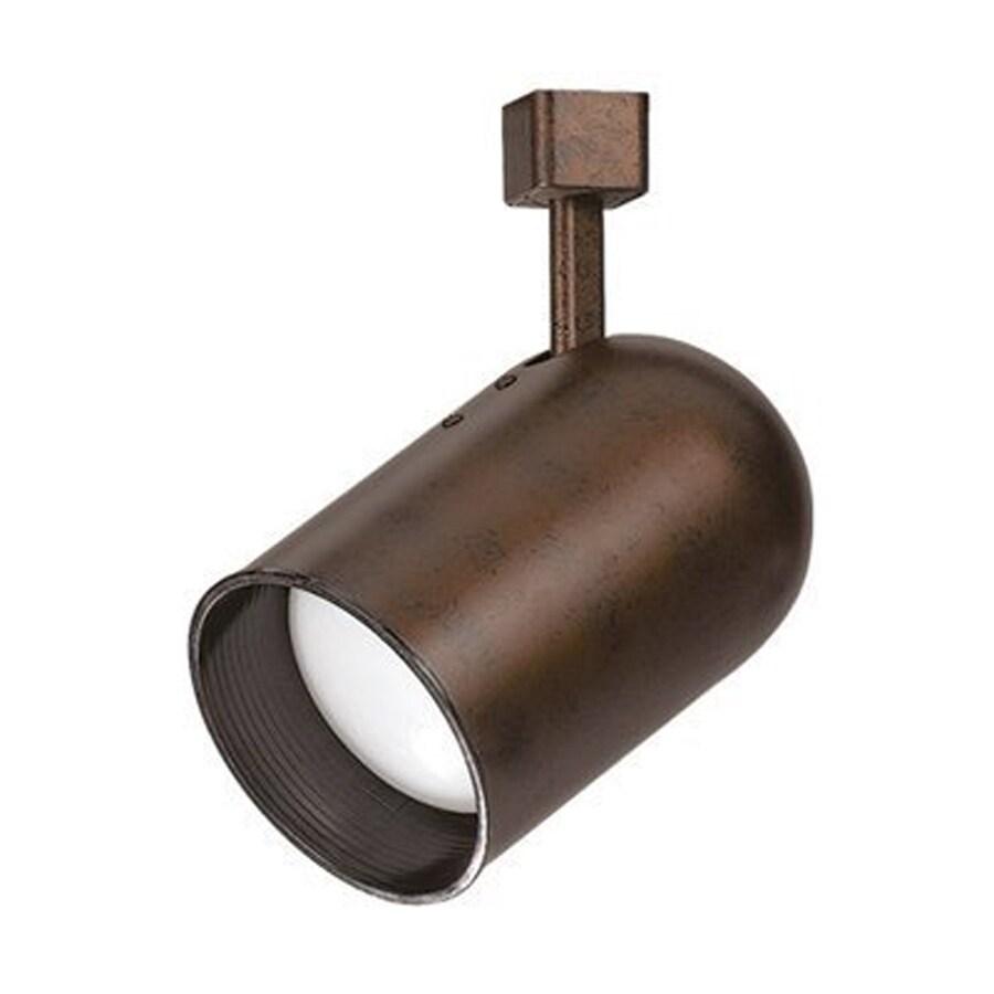 Cal Lighting 1-Light Rust Roundback Linear Track Lighting Head