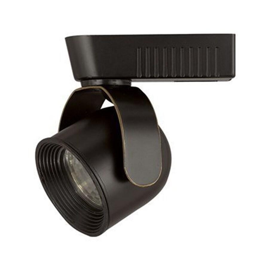 Cal Lighting 1-Light Dark Bronze Roundback Linear Track Lighting Head