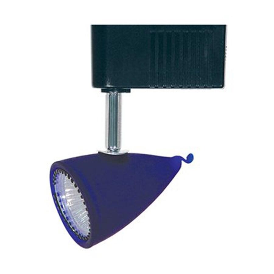 Cal Lighting 1-Light Black/Blue Roundback Linear Track Lighting Head