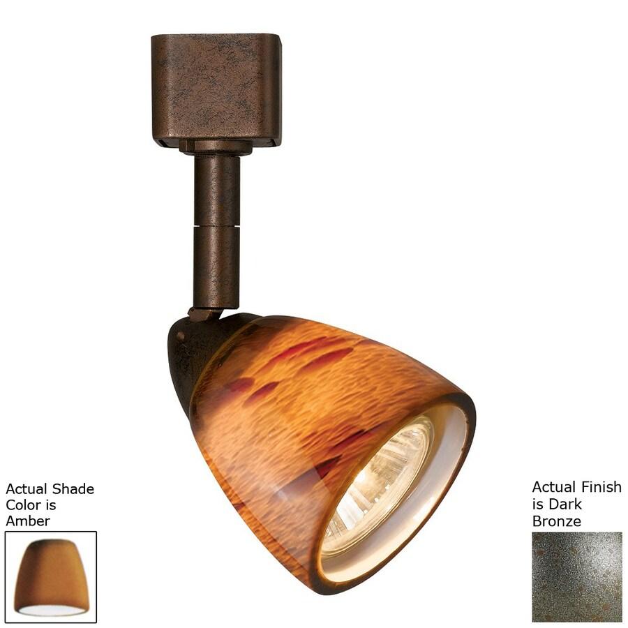 Cal Lighting 1-Light Dark Bronze/Amber Pinhole Linear Track Lighting Head