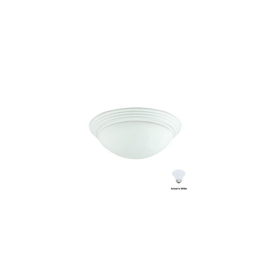 Cal Lighting 16-in W White Ceiling Flush Mount