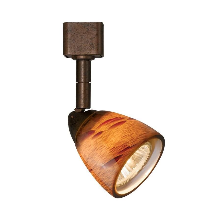 Cal Lighting 1-Light Rust/Amber Spot Pinhole Linear Track Lighting Head