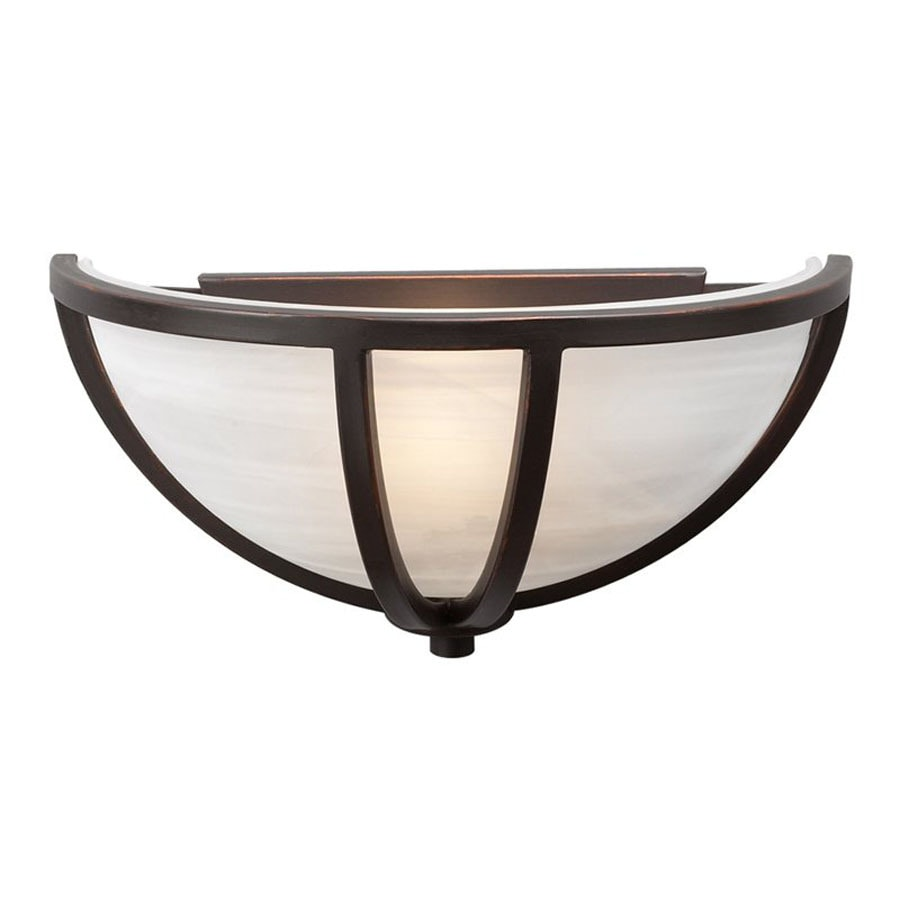 Wall Sconces Oil Rubbed Bronze : Shop PLC Lighting Highland 14-in W 1-Light Oil-Rubbed Bronze Pocket Hardwired Wall Sconce at ...