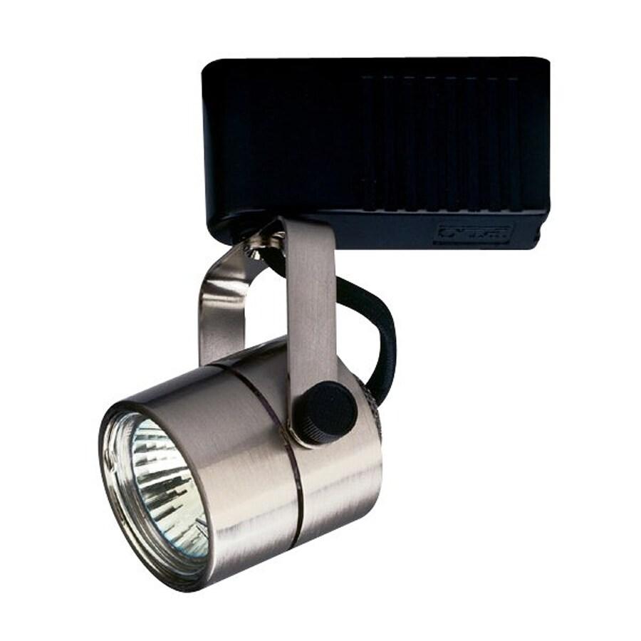 PLC Lighting Slick 1-Light Dimmable Satin Nickel Flat Back Linear Track Lighting Head