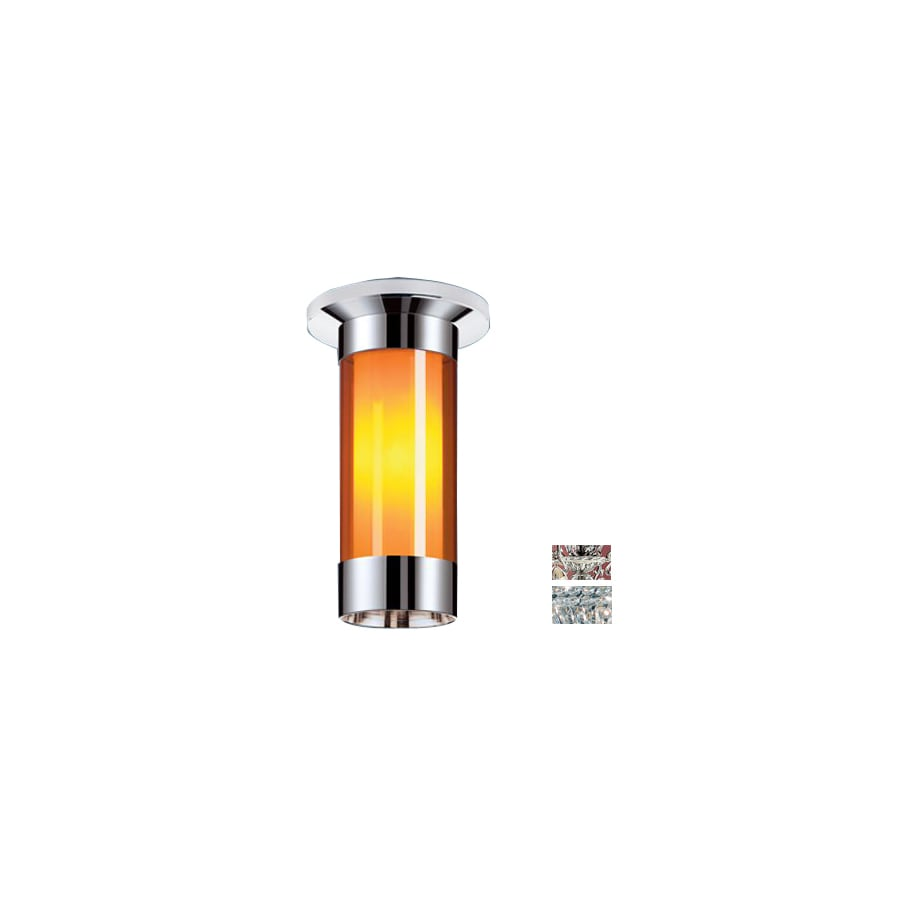 Classic Lighting 12-in W Millennium Silver Crystal Ceiling Flush Mount