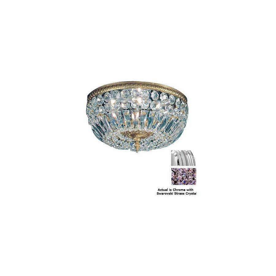 Classic Lighting 24-in Chrome Crystal Ceiling Flush Mount
