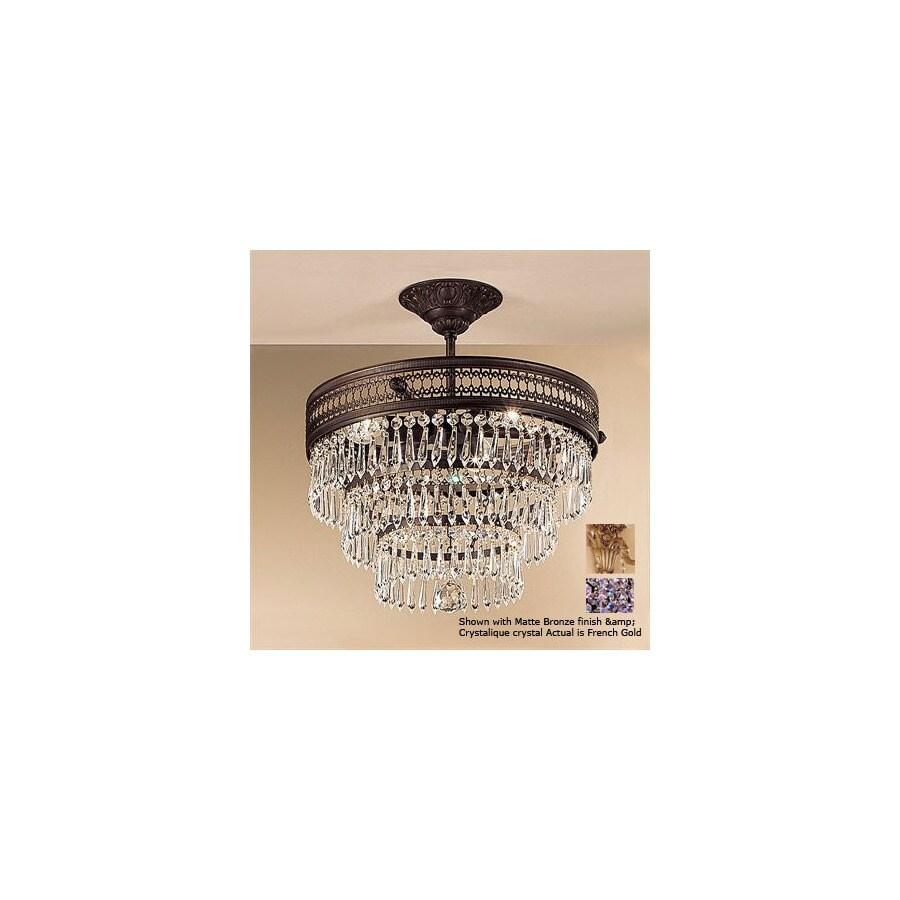 Classic Lighting 16-in French Gold Semi-Flush Mount Light