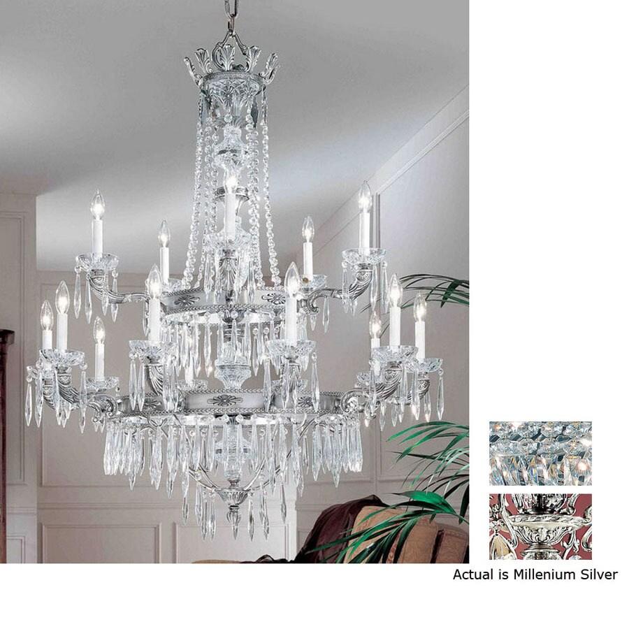 Classic Lighting 14-in Millennium Silver Semi-Flush Mount Light