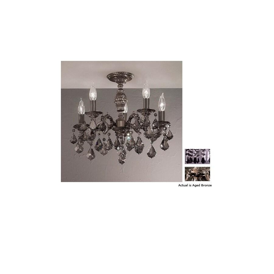 Classic Lighting 18-in Aged Bronze Semi-Flush Mount Light