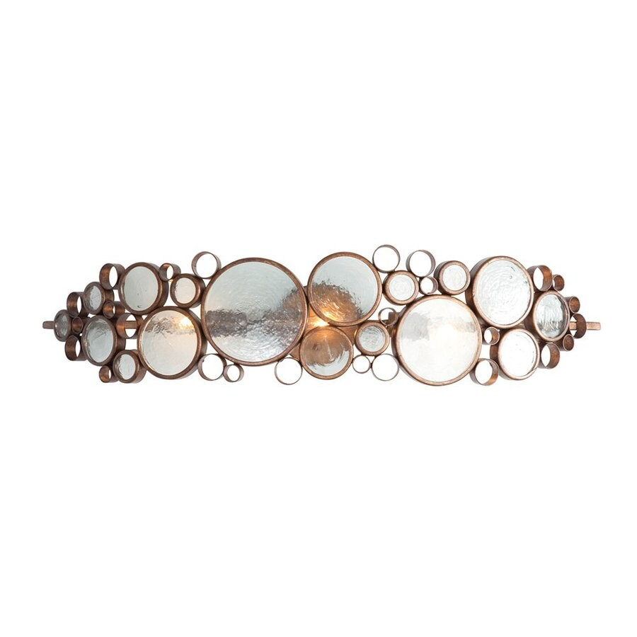 Varaluz Fascination 33.5-in W 1-Light Hammered Ore Pocket Hardwired Wall Sconce