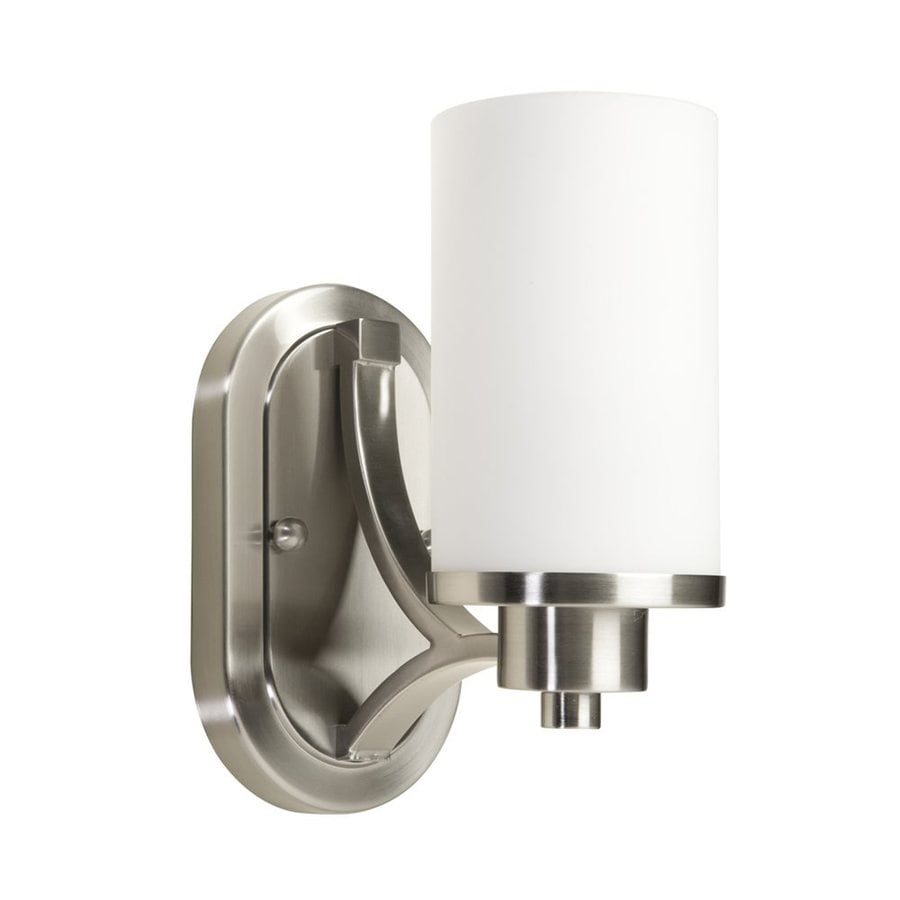 Artcraft Lighting Parkdale 6-in W 1-Light Polished Nickel Arm Hardwired Wall Sconce