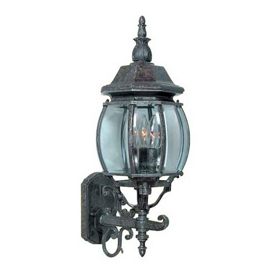 International Lighting 23-1/2-in Rustic Silver Outdoor Wall Light