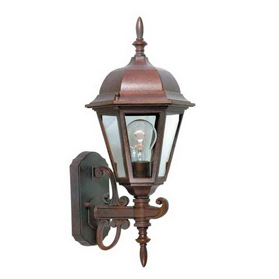 International Lighting 18-in Distressed Bronze Outdoor Wall Light