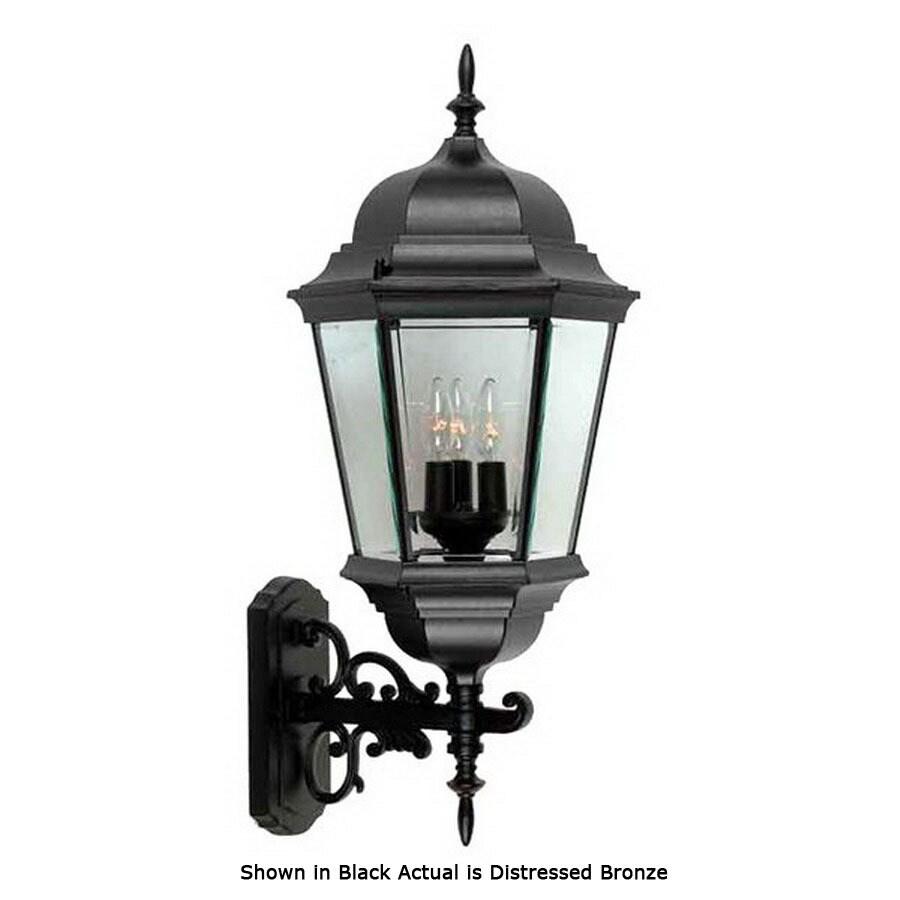 International Lighting 27-in Distressed Bronze Outdoor Wall Light