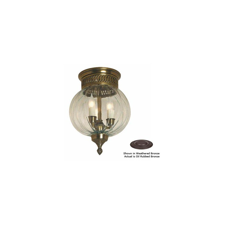 JVI Designs 10-in W Oil-Rubbed Bronze Ceiling Flush Mount