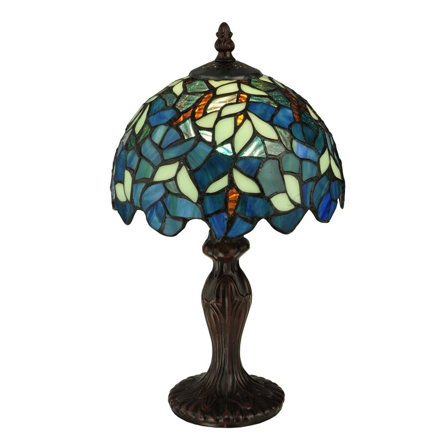 Meyda Tiffany 14-in Tiffany-Style Indoor Table Lamp with Glass Shade