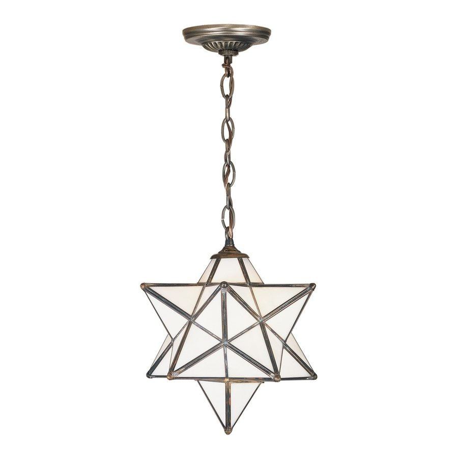 Meyda Tiffany Moravian Star 12-in Mahogany Bronze Hardwired Single Star Pendant