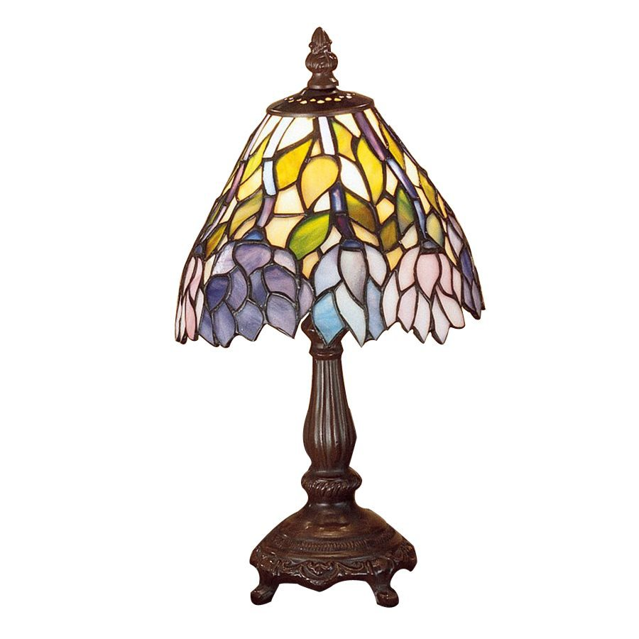 12 in tiffany style indoor table lamp with glass shade at. Black Bedroom Furniture Sets. Home Design Ideas
