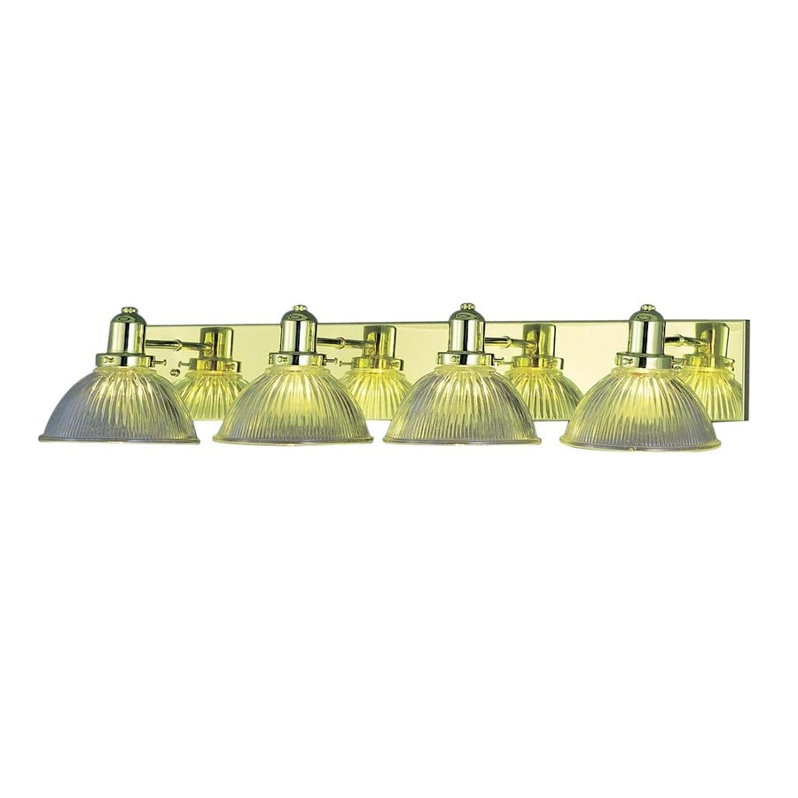 Volume International 4-Light Polished Brass Bathroom Vanity Light