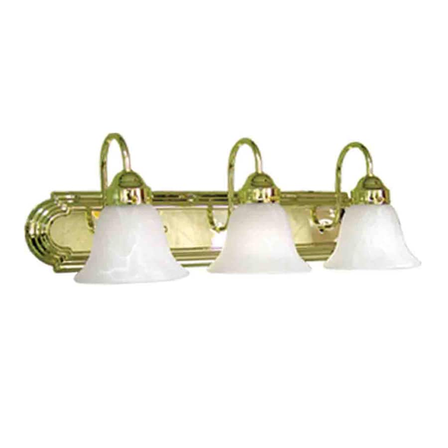 Vanity Lighting Polished Brass : Shop Volume International 3-Light Minister Polished Brass Bathroom Vanity Light at Lowes.com