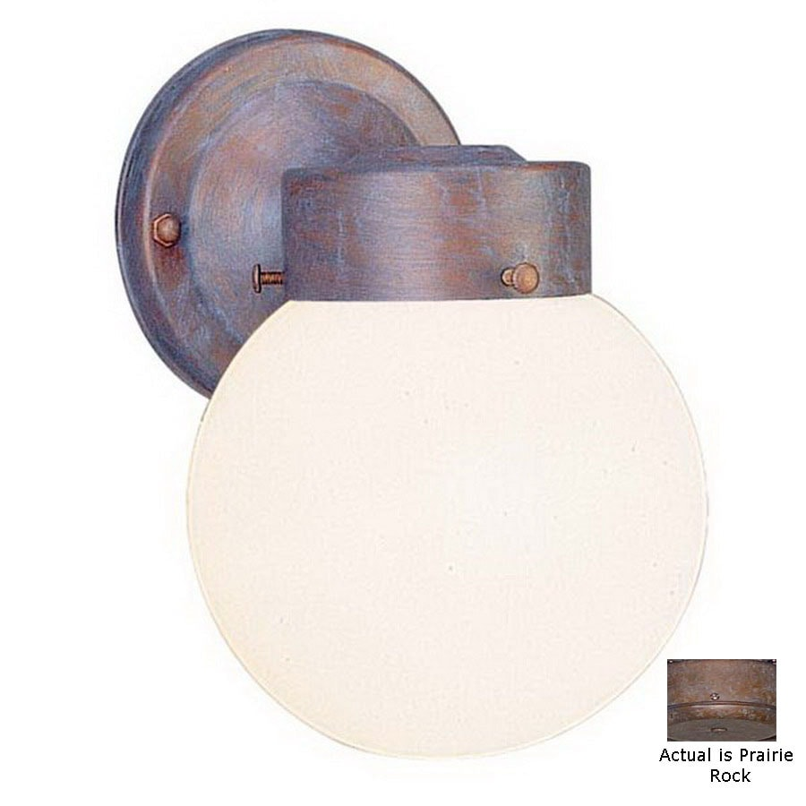 Volume International Globe 8-1/2-in Prairie Rock Outdoor Wall Light