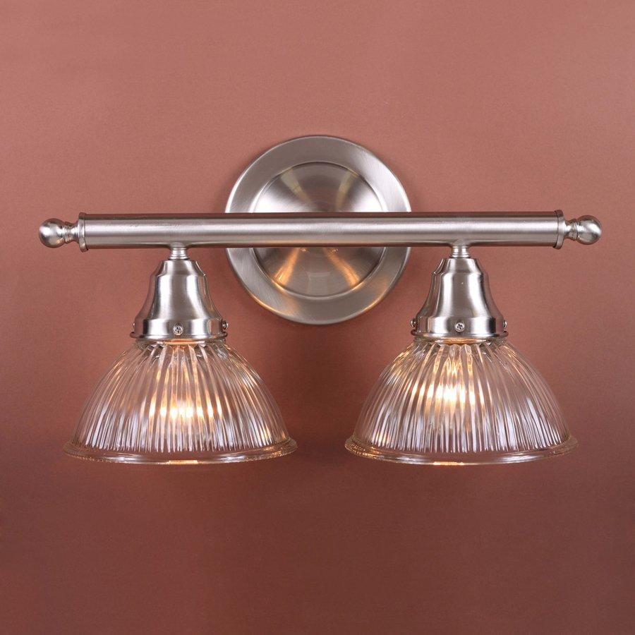 Volume International 2-Light Brushed Nickel Bathroom Vanity Light