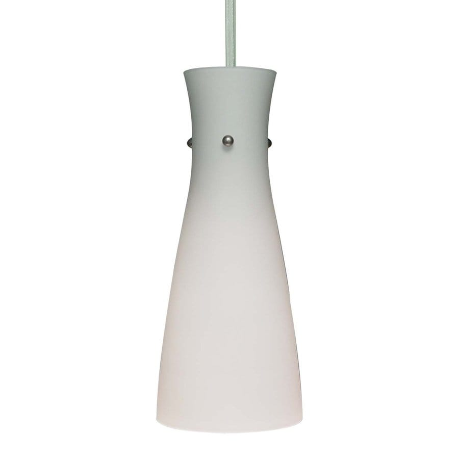Volume International 5-in Brushed Nickel Mini Etched Glass Pendant