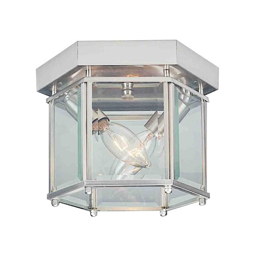 Volume International 8-in W Brushed Nickel Ceiling Flush Mount Light