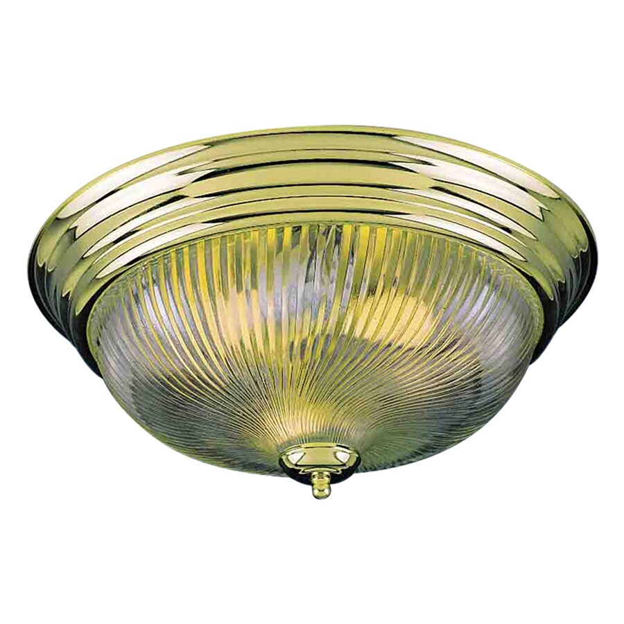 Volume International 15-in W Polished Brass Ceiling Flush Mount Light
