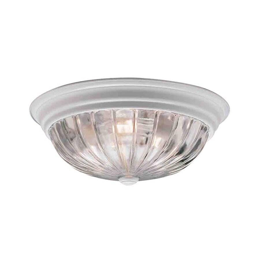 Volume International 11-in W White Ceiling Flush Mount Light