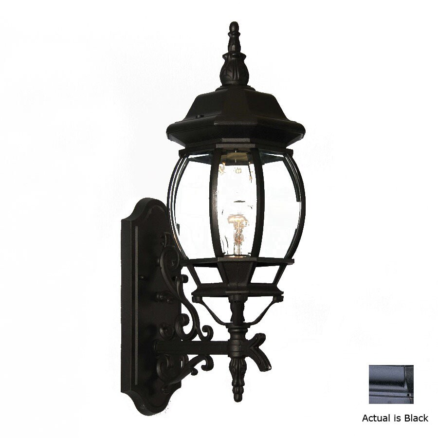 Volume International 23-1/2-in Black Outdoor Wall Light