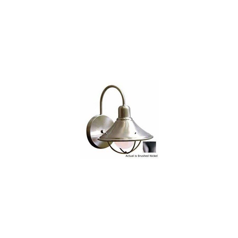 Volume International Retro 7-1/2-in Brushed Nickel Outdoor Wall Light