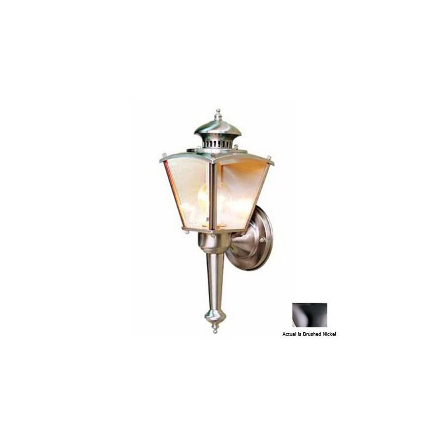 Volume International 16-in Brushed Nickel Outdoor Wall Light