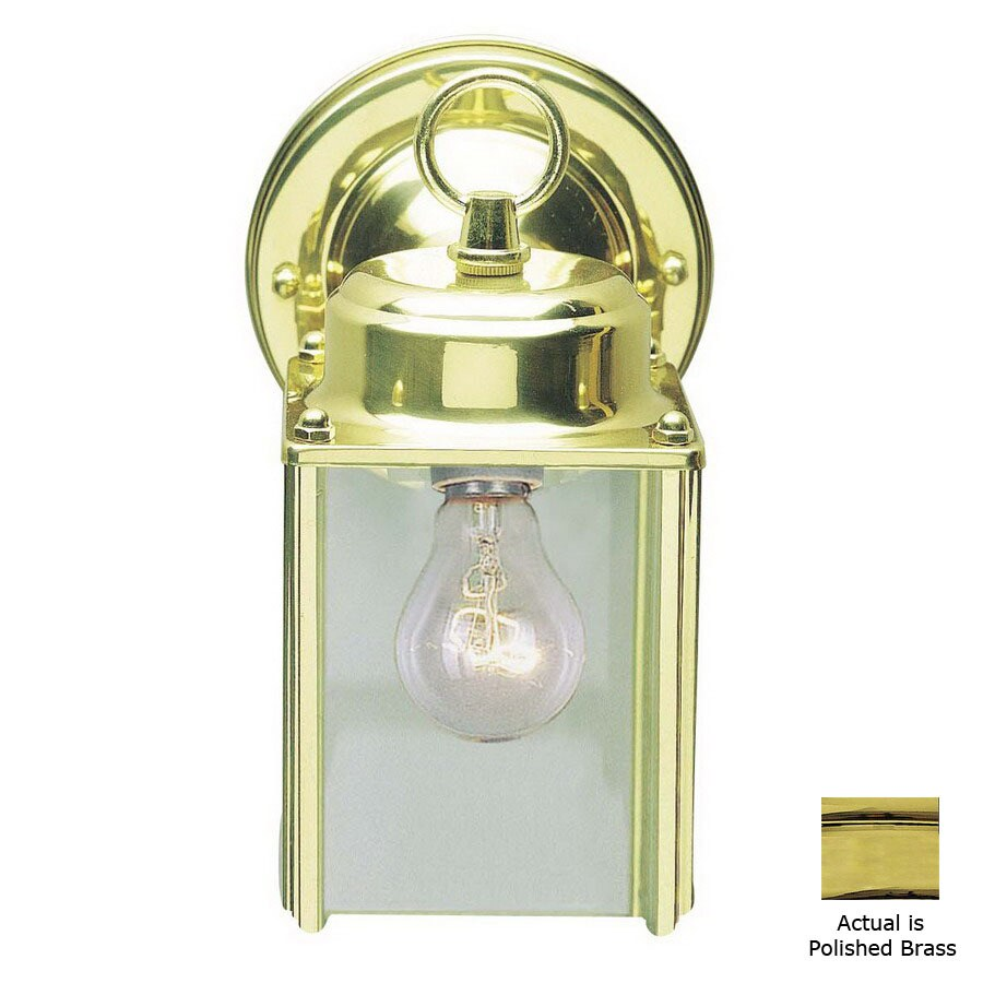 Volume International 9-1/2-in Polished Brass Outdoor Wall Light