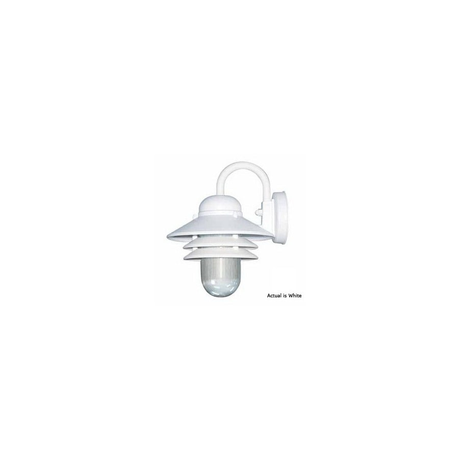 Volume International Retro 10-in White Outdoor Wall Light