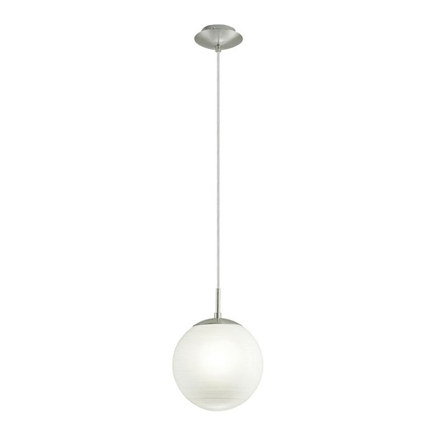 EGLO Milagro 9.84-in W Silver Pendant Light with White Shade