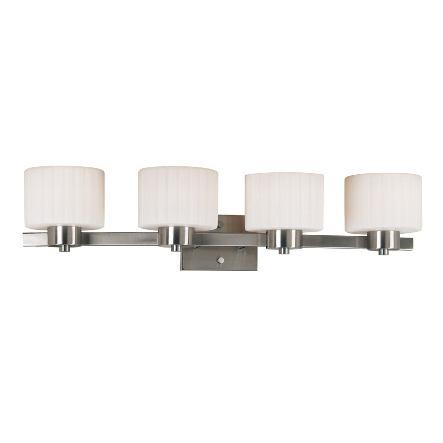 Kenroy Home 4-Light Legacy Brushed Steel Standard Bathroom Vanity Light
