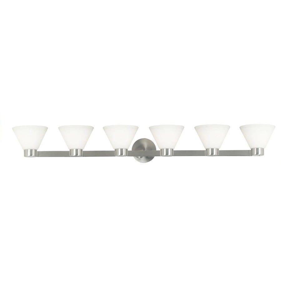 Kenroy Home 6-Light Maxwell Brushed Steel Standard Bathroom Vanity Light